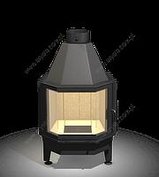 Топка каминная. Arysto 15 G (330/220x510) с гнутым стеклом