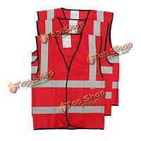 Жилет жилет безопасности дорожного движения предупреждение светоотражающими полосами жилет