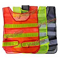 Безопасности дорожного движения жилет сетка видимости светоотражающими полосами жилет