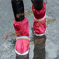 Мотоцикл водонепроницаемый дождя сапоги покрывает толстой трубки мода обувь