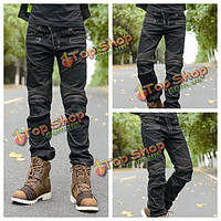 Мотоцикл джинсы спортивные штаны верхом защитные штаны с защитными прокладками для Scoyco P043