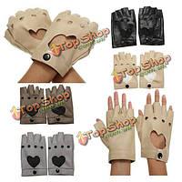 Женщины вождение без пальцев перчатки танцевать спортивные мотоциклы искусственная кожа перчатки
