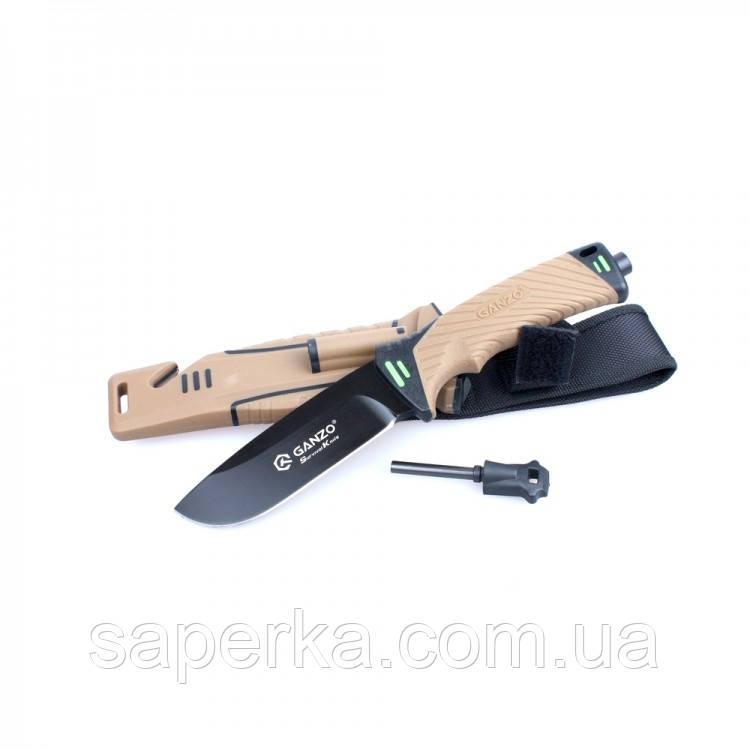 Нож для охоты и туризма с огнивом Ganzo G8012-DY