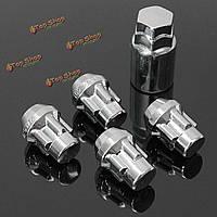 1 комплект замок легкосплавные колесные диски противоугонные гайки болты с ключом 60° выявляется 12x1.5мм
