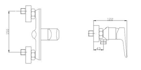 Смеситель для душа Invena Dokos BN-19-002-V, фото 2
