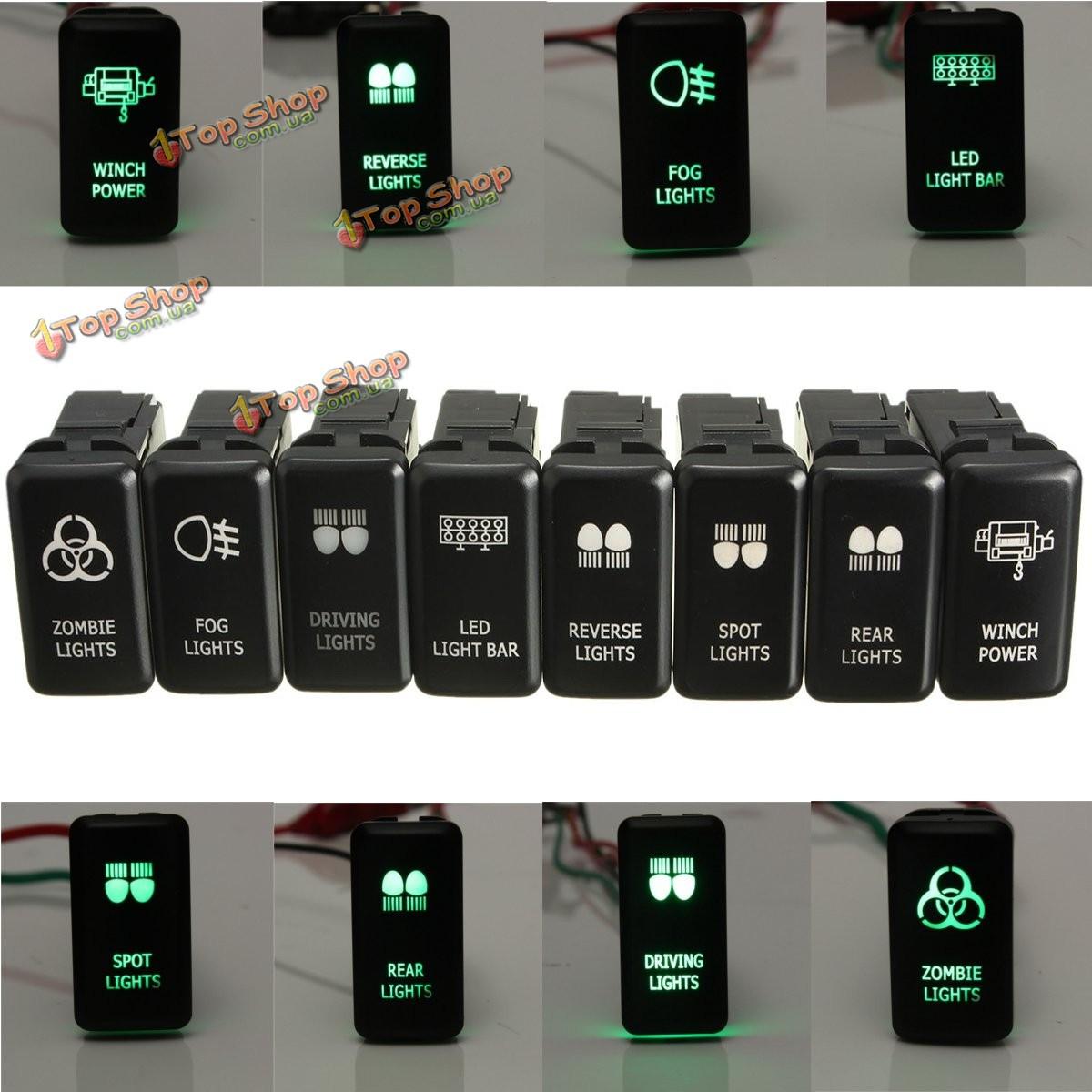 12v зеленый LED ОЕМ замена кнопочный переключатель для Toyota Landcruiser Hilux Prado