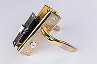 Ручка-защёлка YPN сатин/золото (круглая ручка в точку) 04/ВК115-L118