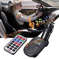 Беспроводной передатчик FM автомобиля mp3 музыкальный плеер Поддержка USB флэш-диск TF карта