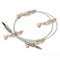 Автомобиль AUX стерео между мужчинами аудио кабель ПТФЭ тефлоновое 0.5 м 3.5 мм для телефонов ставку ПК