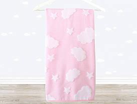 Полотенце детское Irya - Cloud 70*120 розовое