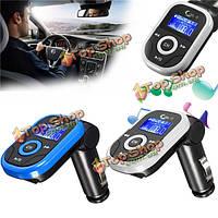 Беспроводной ЖК- автомобильный комплект mp3-плеер FM-передатчик модулятор USB TF SD заряд дистанционного