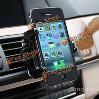 360° поворотный автомобильный кондиционер вентиляционные стенд держатель для iPhone 5