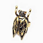 Кольцо женское золотая Муха