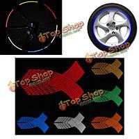 Мульти цвет обода колеса наклейки светоотражающие нашивки наклейка лента
