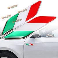 2шт 3D itllian Италия флаг стикер значок эмблемы деколь декора для автомобиля грузовик ноутбук