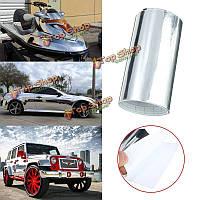 10xАвтомобильный хромовый винил серебро зеркала на 152см обертывает листовую автомобильную лодку фильма переводной картинки этикетки