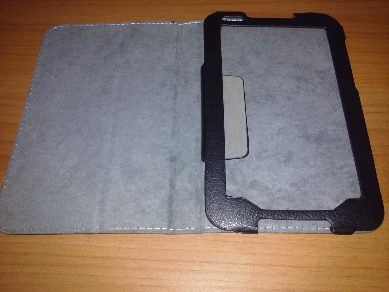 Чехол книжка Lenovo A1000 чёрный - обложка подставка