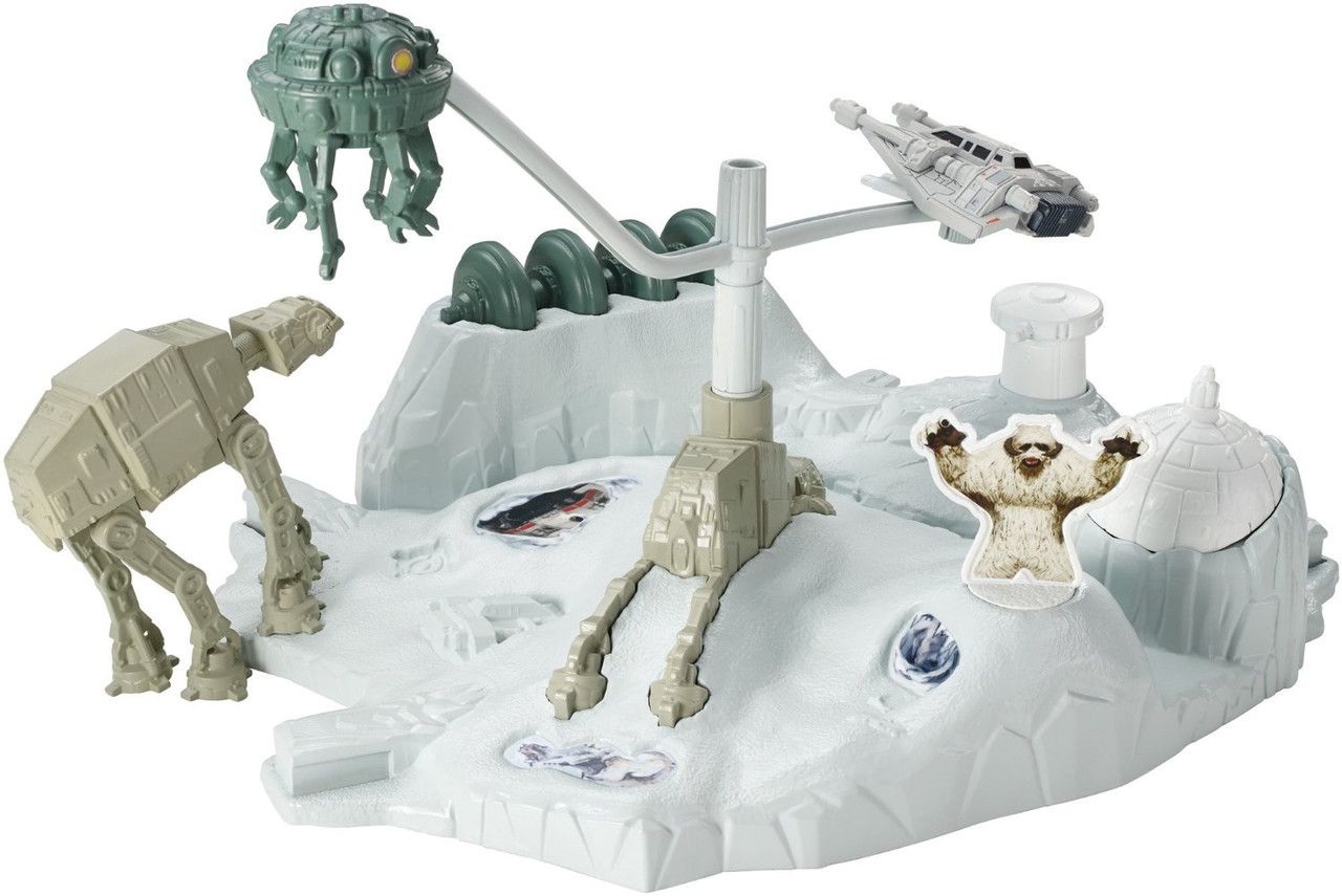 Hot Wheels Битва на планете Хот Звездные войны Star Wars Starship Hoth Echo Base Battle Play Set