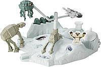 Hot Wheels Битва на планете Хот Звездные войны Star Wars Starship Hoth Echo Base Battle Play Set, фото 1