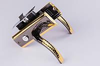 Ручка-защёлка YPN Мила черное золото 03