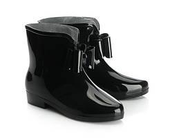Резиновые сапоги черного цвета для женщин  размер 38 (маломерки)