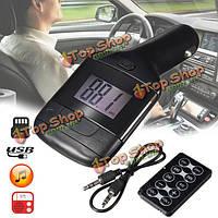 LED fm-трансмиттер MP3-плеер автомобильный комплект зарядное устройство USB-aux tf пульт ДУ для мобильного телефона