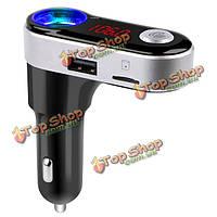 BC09B громкой связи 5V/2.1a USB автомобильное зарядное устройство Bluetooth  автомобильный комплект FM-передатчик MP3 музыкальный плеер
