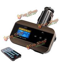 Fm30b громкой связи FM-передатчик автомобильный комплект MP3 музыкальный плеер с пультом дистанционного управления для iPhone Самсунга Л.Г.