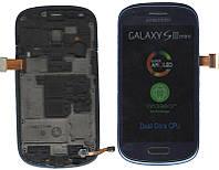 Дисплей + сенсор Samsung I8190 с рамкой (Blue)с синий