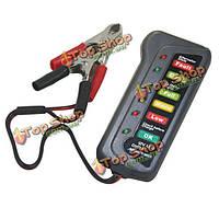 12В LED цифровой тестер аккумулятора генератора 6 светодиодный дисплей показывает