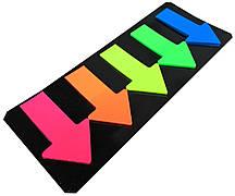 Закладки-стикеры JOSEF OTTEN (46x27mm / 5 цветов) стрелки, закладки с клеевым слоем