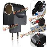 Универсальный блок питания 220 В переменного тока от стены до 12В постоянного тока автомобильного прикуривателя адаптер конвертер ЕС Plug