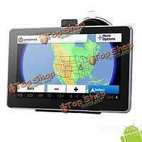 7-дюймов резистивный экран Андроид  4.0 Wi-Fi Автомобильный GPS навигатор 8Гб