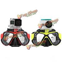 Дайвинг дайвинг маски оборудование плавание очки для GoPro hero4 / 3 + / 3/2/1 Xiaomi ух sj4000
