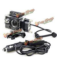 Оригинальный водонепроницаемый корпус + зарядное устройство для спортивной камеры автомобиля SJCAM SJ4000 серия на мотоцикле