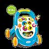 Ходунки, игровой центр с сортером голубой Smoby 110303