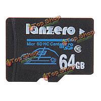 Micro-SD class10 TF карта памяти тахографа камера автомобиля DVR 64Гб lanzero