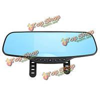 Автомобиль двойной линзы Видеорегистратор камера черточки GPS зеркало заднего вида рекордер камеры 4.3-дюймовый TFT HD 1080p