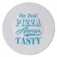 Тарелка для пиццы BormioliRocco Vintage Labels голуба d33 см стеклокерамика (419320-763886 BR)