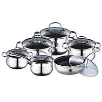 Набор посуды Kamille  12 предметов нержавейка (4050S K)