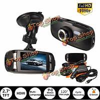 Автомобильный видеорегистратор видеокамера рекордер приборная кулачковый тахограф 2.7-дюймовый ЖК-дисплей 1080p HD