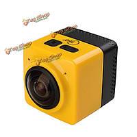 Куб 360 градусов камеры желтый поддержки микро- SDHC с аксессуарами