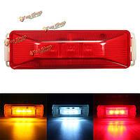 3 LED 12v грузовик прицеп грузовой автомобиль боковой габаритный фонарь лампа красный янтарь белый