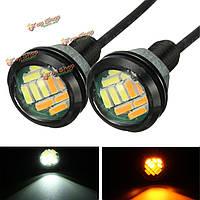 2шт сигнальная лампа 4014 5w LED орлиный глаз дневного времени идущий дополнительный стоп-сигнал поворота