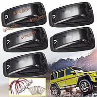 5шт копченой линзы пластиковые крыше кабины маркерные ходовыми огнями покрытие автомобиля верхнего света оболочки