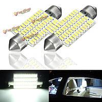 2шт 3w 41мм интерьер автомобиля LED festonn readding крыша свет колбы лампы белый