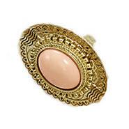 Кольцо женское с камнем ретро