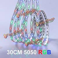 30см 5050 12SMD LED RGB полосы света украшения автомобиля света водонепроницаемый