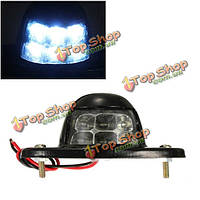 6 LED номерного знака лицензии свет грузовик с прицепом лодка Лампа рефлектор