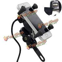 12-30В 3.5-6-дюйм держатель мотоцикл телефон GPS-х сцепление USB зарядное устройство Сетевая розетка